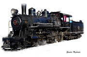 Signed Photo Posters - Steam Locomotive Poster by Gunter Nezhoda