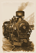 Steam Locomotive Posters - Steam Locomotive Poster by Ha Ko