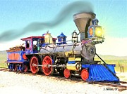 Steam Locomotives Digital Art Posters - Steam Locomotive Jupiter Poster by Jerry Gose Jr