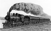 Coal Prints - Steam Locomotive No. 999 - C. 1893 Print by Daniel Hagerman