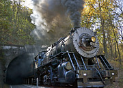 Maryland Photos - Steam Locomotive Train on the Western Maryland Scenic Railroad by Brendan Reals