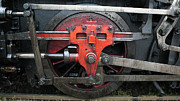 Maschine Framed Prints - Steam Locomotive Wheel Framed Print by Walter Novak
