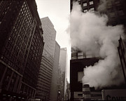 Broadway In New York Prints - Steam Pipe Print by Ray Rothaug