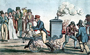 Science Source - Steam Powered Motorcycle Velocipede 1818