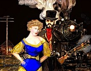Steam Punk Love Print by Larry Lamb