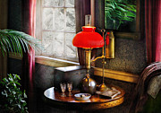 Gas Lamp Framed Prints - Steam Punk - Victorian Suite Framed Print by Mike Savad