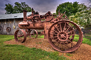 Tennessee Barn Digital Art Posters - Steam Tractor Poster by Brett Engle