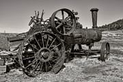 Machinery Metal Prints - Steam Tractor - Molson Ghost Town Metal Print by Daniel Hagerman