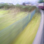 Train Digital Art Posters - Steam Train Abstract Poster by Natalie Kinnear