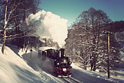 Christian Spiller - Steam train in freezing...