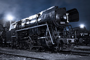 Steam Train In The Night II. Print by Martin Dzurjanik