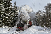 Christian Spiller - Steam train in wintery...