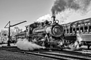 Train Ride Prints - Steam Train No. 40 BW Print by Susan Candelario