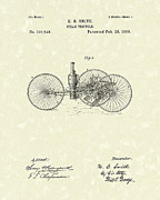Tricycle Drawings - Steam Tricycle 1889 Patent Art by Prior Art Design