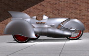 Rivets Art - Steam Turbine Trike  by Stuart Swartz