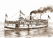 James Williamson - Steamboat RELIANCE Sepia
