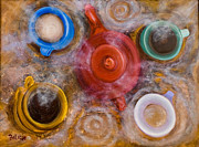Liquid Painting Prints - Steamers Print by Trish Bilich