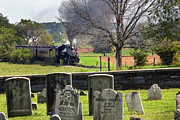 Strasburg Prints - Steaming past the old Amish Cemetery Print by Paul W Faust -  Impressions of Light