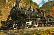 North Cascades Posters - Steaming Through The Fall Poster by Adam Jewell