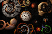 Clocks Posters - Steampunk - Abstract - The beginning and end Poster by Mike Savad