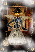 Shannon Story Posters - Steampunk Angel Poster by Shannon Story