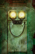 Smiling Metal Prints - Steampunk - Be Happy Metal Print by Mike Savad