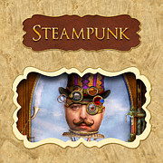 Steampunk Button Print by Mike Savad