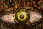 Bizarre Photo Prints - Steampunk - Creepy - Eye on technology  Print by Mike Savad