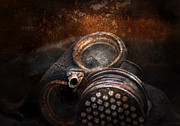 Gas Mask Posters - Steampunk - Doomsday  Poster by Mike Savad