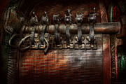 Mancave Prints - Steampunk - Electrical - Motorized  Print by Mike Savad