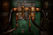 Old School Prints - Steampunk - Electrical - Pull the switch  Print by Mike Savad