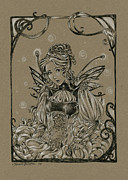 Steampunk Drawings - Steampunk Fairy by Meredith Dillman
