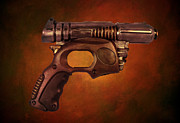 Police Metal Prints - Steampunk - Gun - Be Gone Gun Metal Print by Paul Ward