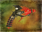 Police Metal Prints - Steampunk - Gun - Electric Raygun Metal Print by Paul Ward