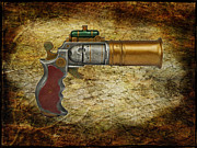 Police Metal Prints - Steampunk - Gun - The Ladies Gun Metal Print by Paul Ward