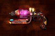 Vintage Digital Art Metal Prints - Steampunk - Gun -The neuralizer Metal Print by Mike Savad