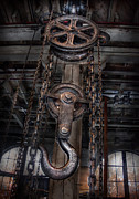 Hoist Photo Framed Prints - Steampunk - Industrial Strength Framed Print by Mike Savad