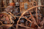 Machinery Photo Posters - Steampunk - Machine - The industrial age Poster by Mike Savad