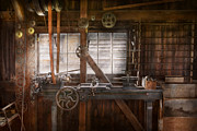 Industrial Metal Prints - Steampunk - Machinist - My tinkering workshop  Metal Print by Mike Savad