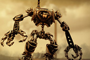 Workers Digital Art Posters - Steampunk Mech Poster by Liam Liberty