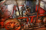Science Fiction Art Framed Prints - Steampunk - My transportation device Framed Print by Mike Savad