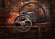 Old-fashioned Digital Art Prints - Steampunk - No 10 Print by Mike Savad