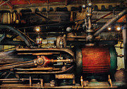 Engine Photo Framed Prints - Steampunk - No 8431 Framed Print by Mike Savad