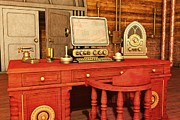 Businesses Digital Art Prints - Steampunk Office Print by Liam Liberty