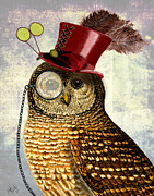 Kelly McLaughlan - SteamPunk Owl with Top...