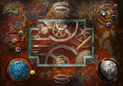 Vintage Digital Art Prints - Steampunk - Pandoras box Print by Mike Savad