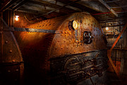 Boiler Photo Prints - Steampunk - Plumbing - The home of a stoker  Print by Mike Savad