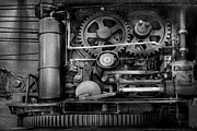 Steampunk - Serious Steel Print by Mike Savad