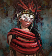 Goddess Of Death Prints - Steampunk Shaman Print by Georgina Hannay