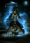 Pendulum Digital Art - Steampunk Spy Carousel by Suzanne Amberson